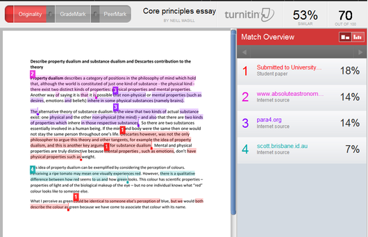 To what extent is plagiarism acceptable in the essay of SAT I ?
